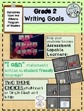 "Alberta Grade 2- Writing ""I can"" statements- Writing Goals"
