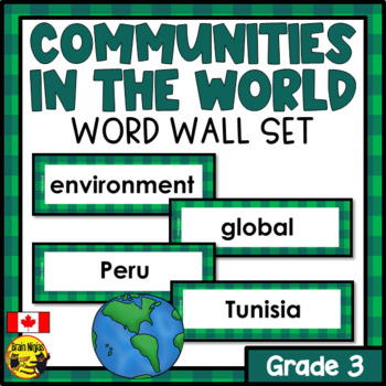 Alberta Grade 3 Social Studies Word Wall Words Editable