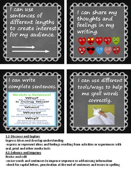 Alberta Grade 3 Writing Goals -I can statements- assessment capable learners