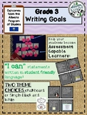 Alberta Grade 3 Writing Goals -I can statements- assessmen