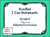 Alberta Grade 5 I Can Statement Bundle