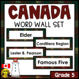 Alberta Grade 5 Social Studies Word Wall Words Editable