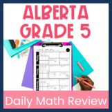 Alberta Grade 5 Summer or End of the Year Math Review Dist
