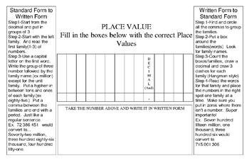 Alberta Grade 6 Numbers N1 Foldable