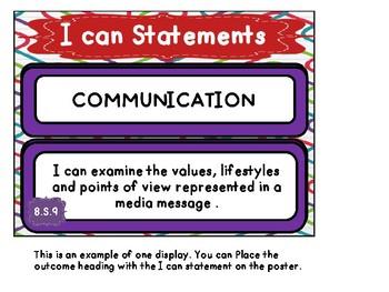 Alberta Grade 8 Social Studies I Can Statements