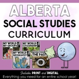 First Grade Social Studies | Alberta Curriculum | GROWING BUNDLE
