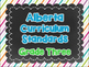 Alberta Grade Three Curriculum Standards I Can Posters & Checklists
