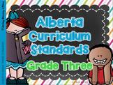 Alberta Grade Three Curriculum Standards I Can Posters & C