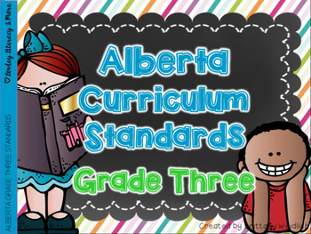 Alberta Grade Three Curriculum Standards I Can Posters & C