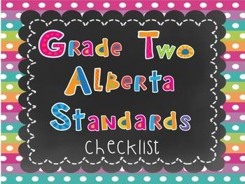 Alberta Grade Two Standards Checklist
