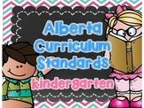 Alberta Kindergarten Curriculum Standards I Can Posters