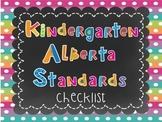Alberta Kindergarten Standards Checklist