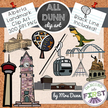 Alberta Landmark Building, Statue, Bridge Clip art