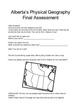 Alberta Physical Geography Final Assessment