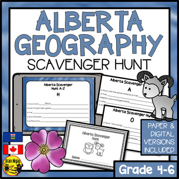 Alberta Scavenger Hunt- A Research Skills Activity