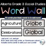 Alberta Social Studies Grade 3 Word Wall India, Peru, Tunisia, Ukraine, Mapping