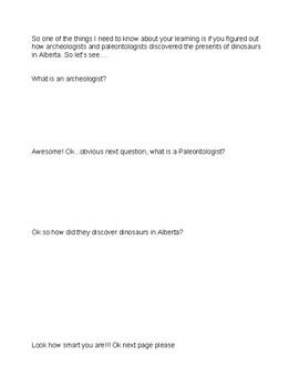 Alberta's Dinosaurs Assessment