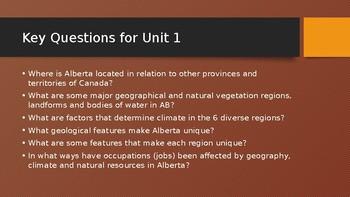 Alberta's Geography & Geology