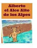"""Cuento de la letra """"A"""": Alberto el alce de los alpes"""