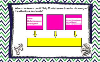 Albertosaurus Mystery Journey's flipchart
