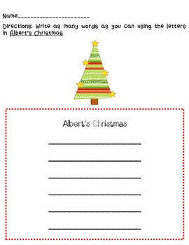 Albert's Christmas QR Packet