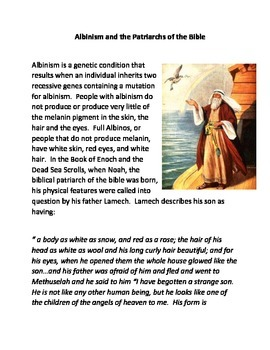 Albinism and The Biblical Patriarchs