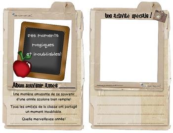 Album Souvenirs Fin d'année scolaire ( end of school year album)