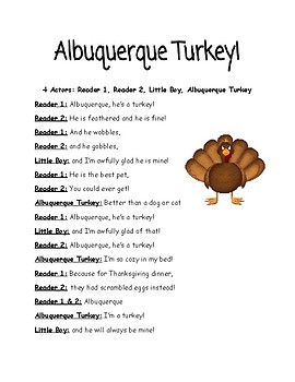 Albuquerque Turkey Readers Theater Thanksgiving
