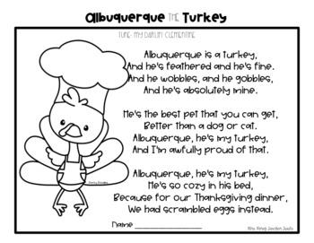 Albuquerque Turkey Song & Book