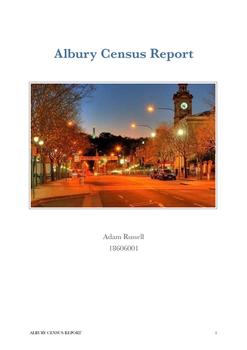 Albury Population Report