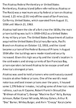Alcatraz Handout