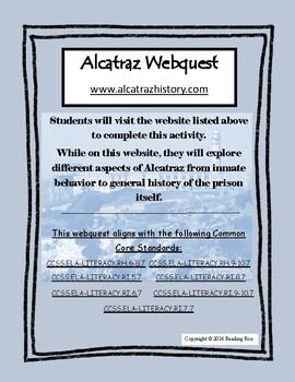 Alcatraz Webquest- NO PREP - Common Core Aligned