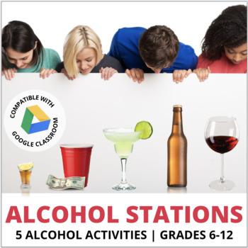 Alcohol Lesson & Activities: Stations! BAC, Binge Drinking, Ads & Media, Risks