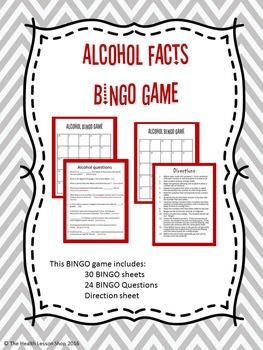 Alcohol Facts BINGO