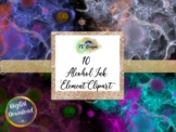 Alcohol Ink Elements Clipart