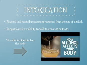 Alcohol Facts & Awareness for HS Students - FULLY Editable in Google Slides!