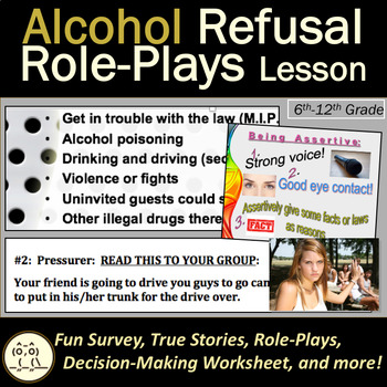 Health Lesson: Alcohol Refusal Skills Role-Plays