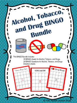 Alcohol, Tobacco, and Drug BINGO Bundle