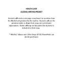 Alcohol Unit - Health Class Research - Persuasive Essay - WRITING RUBRIC