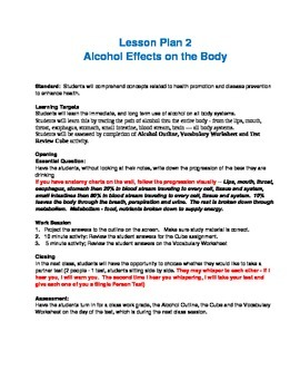 Alcohol Unit Lesson 2