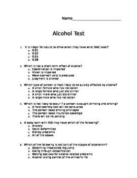 Alcohol Unit Test