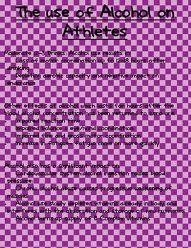 Alcohol use on Athletes