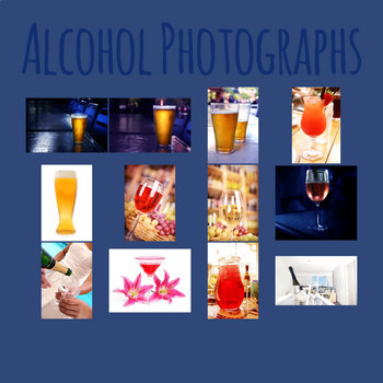 Alcoholic Drinks Photo / Photographic Clip Art Set for Commercial Use