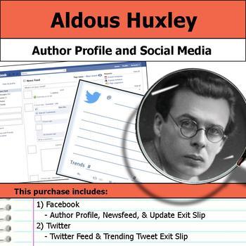 Aldous Huxley - Author Study - Profile and Social Media