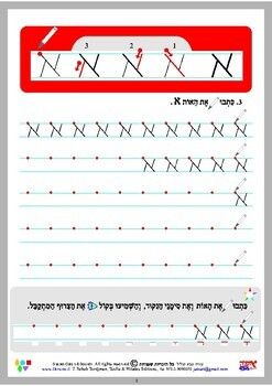 Writing Alef - learning hebrew - Tordjman Hebrew Method