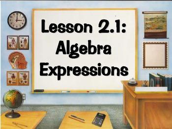 Alegbra Expressions Power Point