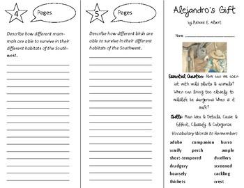 Alejandro's Gift Trifold - Open Court 5th Grade Unit 4 Lesson 3
