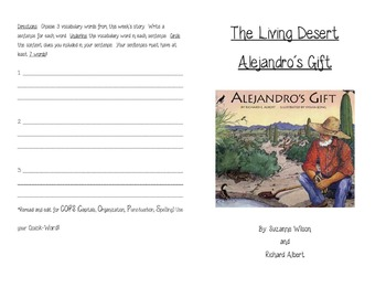 Alejandro's Gift and The Living Desert Activity Booklet