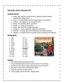 Alejandro's Gift by Richard E. Albert - Imagine It - 6th Grade