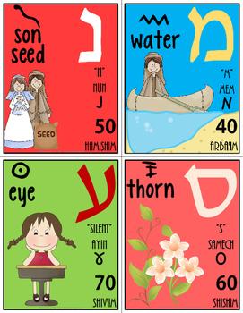 Hebrew Aleph Bet Flash Cards